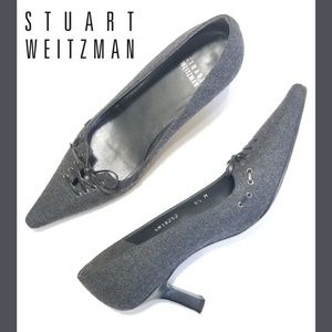 STUART WEITZMAN Wool Pointed Toe Pumps